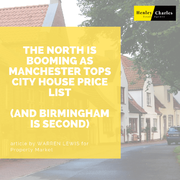 The North is Booming as Manchester tops City House Price List (and Birmingham is second!) image