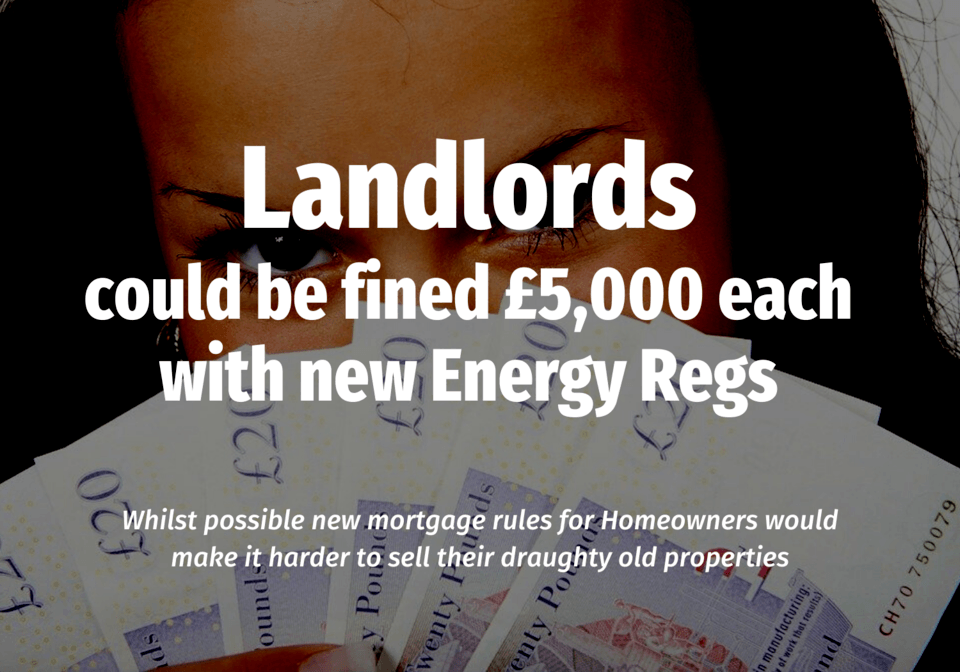 50.2% of Wokingham Landlords Could be Fined £5,000 each with New Energy Regs  … whilst possible new mortgage rules for Wokingham homeowners would make it harder to sell their draughty old properties