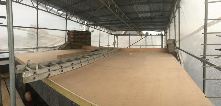 Plywood deck ready for super slim profile Optim-R insulation system
